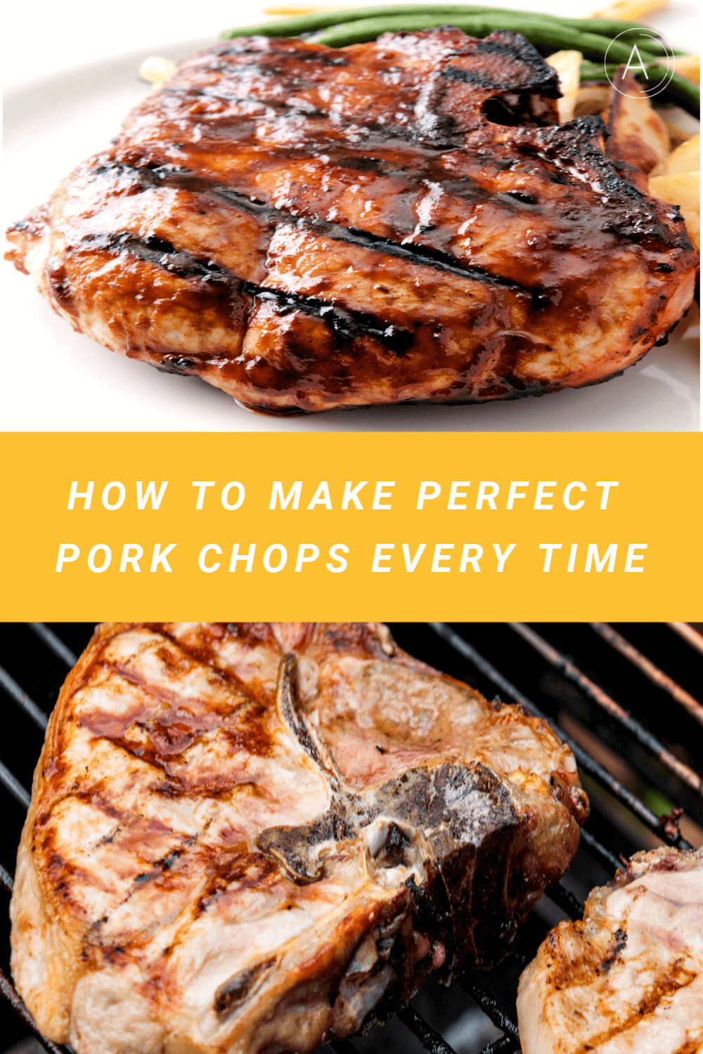 Grilling Thick Pork Chops is not difficult once you know a few tricks. You can get those beautiful grill marks plus keep the meat juicy and tender. The meat is full of flavor with a smokey taste you only get from the grill. Easy tutorial you can adapt to any pork chop thickness.