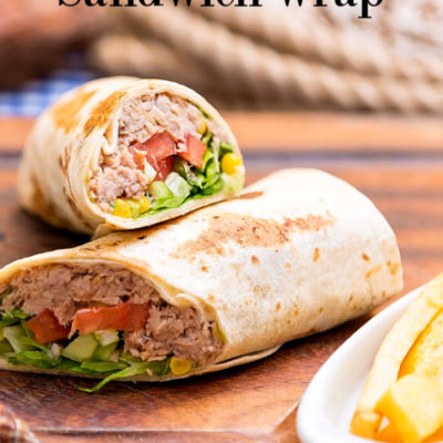 Classic Spicy Tuna Salad Sandwich Wraps