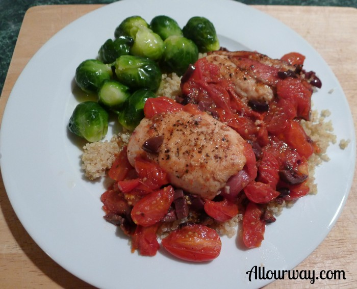 chicken, saltimbocca, organic, quinoa, roasted, grape tomatoes ...