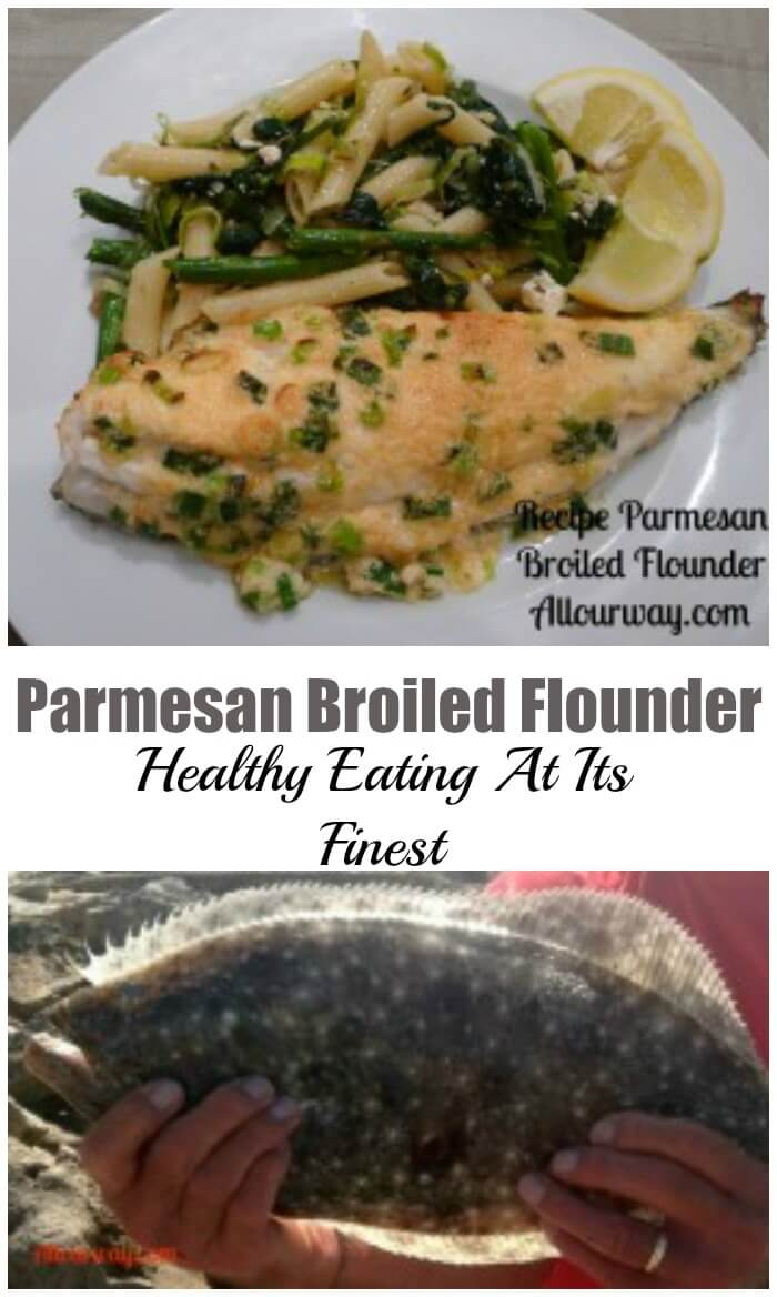 Parmesan Broiled Flounder Healthy Eating at its Tastiest.
