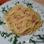Pasta alla Carbonara with Italian Parsley