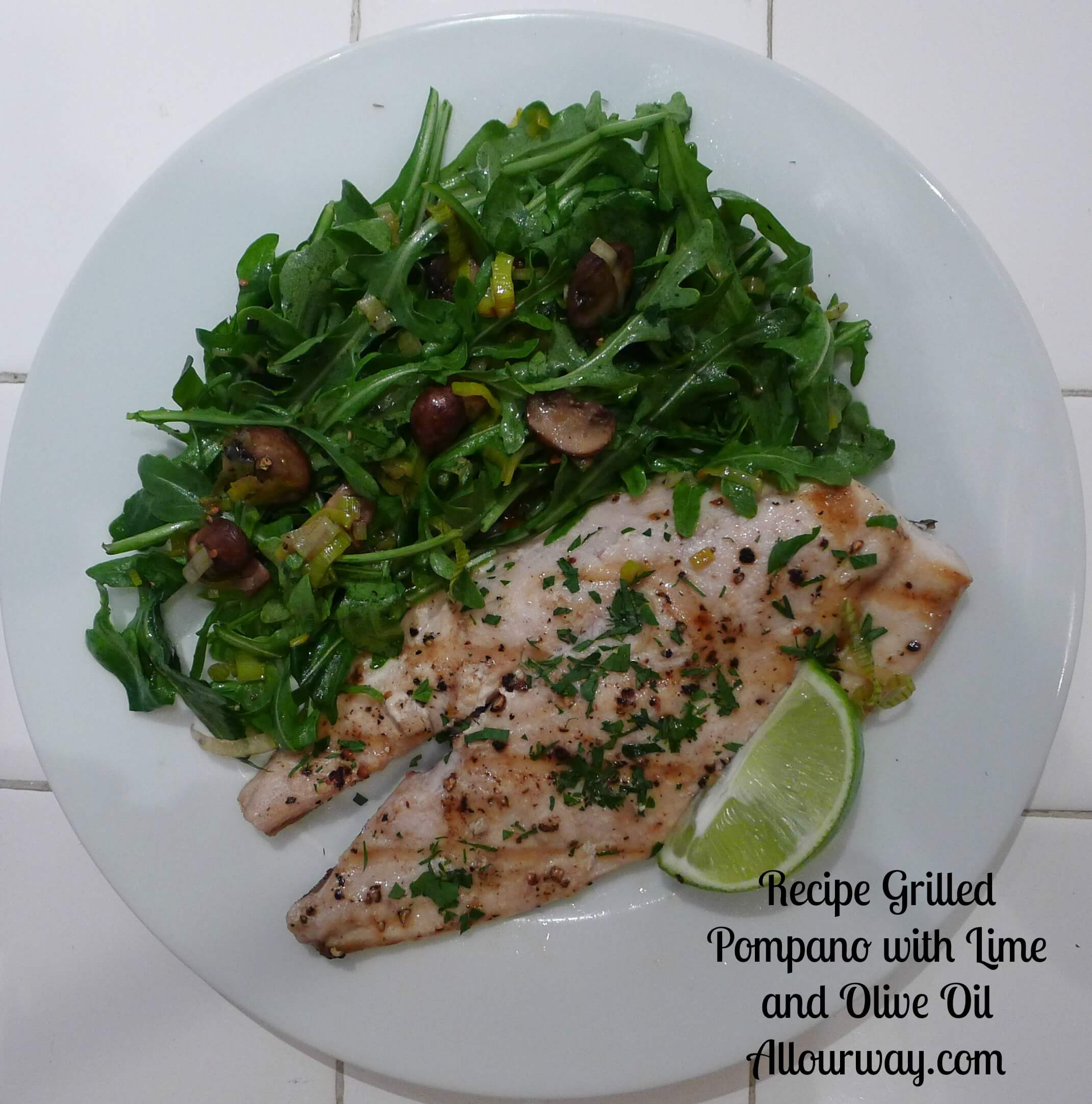 Jason's Pompano Grilled with Lime and Extra-Virgin Olive Oil