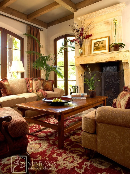 Tuscan, living room, inspiration