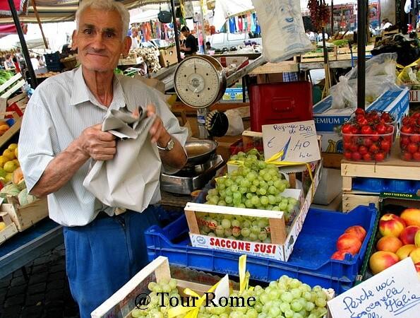 farmer, Campo di Fiori, Italy, Rome