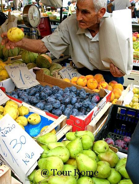 fruit stand, campo de Fiori, Rome, Italy