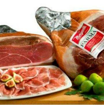 Prosciutto di Parma, sliced,