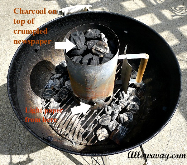 Lighting grill, no chemical taste, inexpensive, chimney lighter