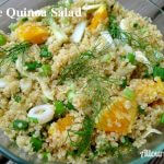 Orange Quinoa Fennel Salad @ Allourway.com