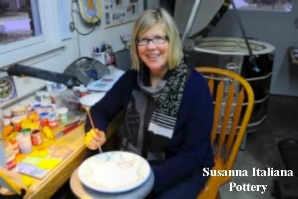 Susanna, work, hand painting