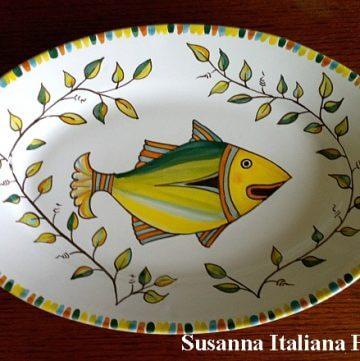 Majolica, Fish, Serving Dish