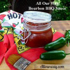 Spicy Bourbon Barbecue Sauce that is finger licking good from Allourway.com
