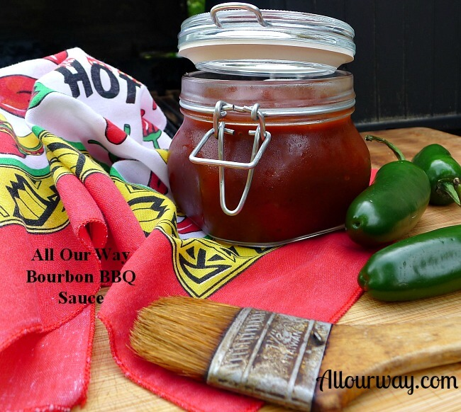 Spicy Bourbon Barbecue Sauce from Allourway.com