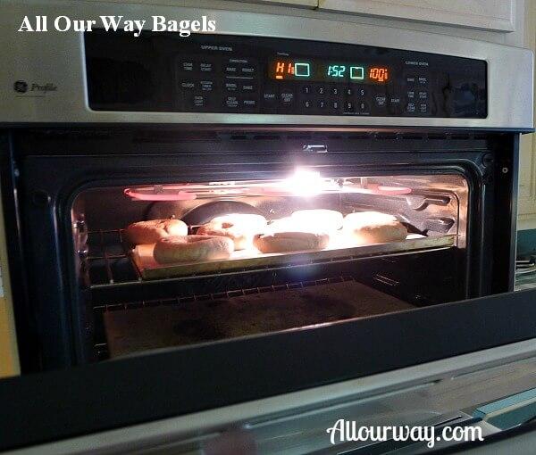 lightly brown, bagel, broiler, preheat