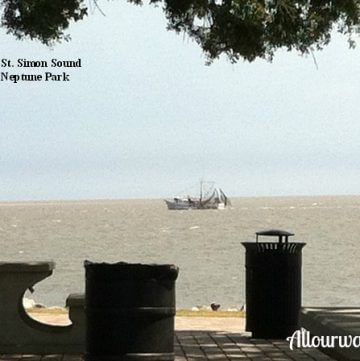shrimp boat, Saint Simons Island, picnic area