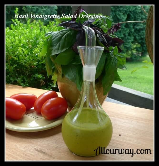 Basil Vinaigrette Salad Dressing - All Our Way