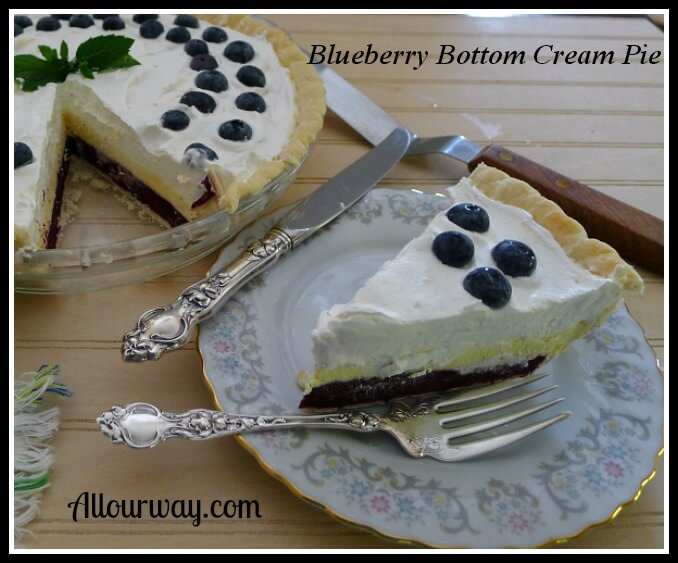 Blueberry Bottom Cream Pie Recipe Fast and Easy Dessert