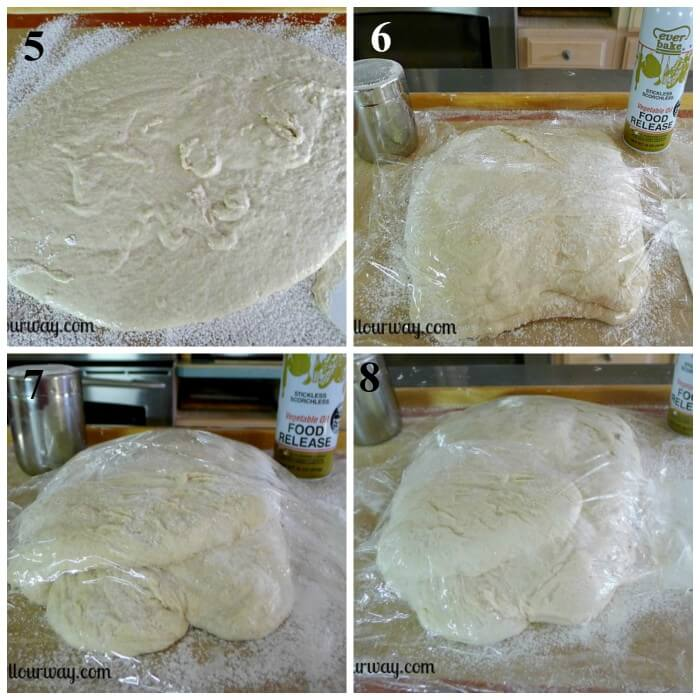How to Make Ciabatta Bread Step by Step 5-8 at allourway.com