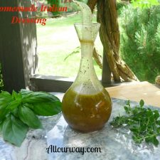 Homemade all natural Italian salad dressing and seasoning @ Allourway.com