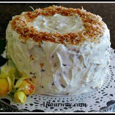 Italian Cream Cake with Toasted Coconut at allourway.com
