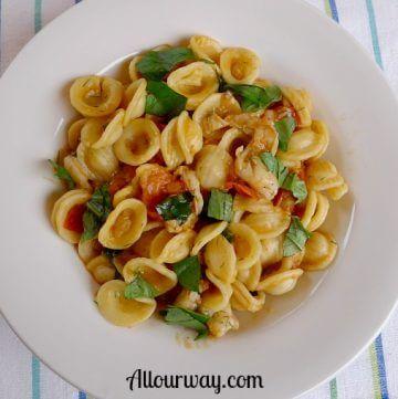 Orecchiette with Spicy Shrimp recipe at allourway.com