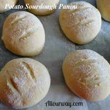 Potato Sourdough Panini Baked and Ready to Cool at allourway.com