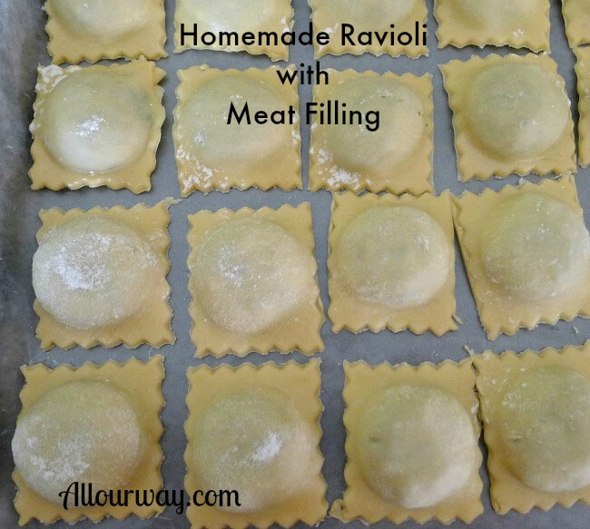 Ravioli Little Meat Filled Dough Pillows at allourway.com