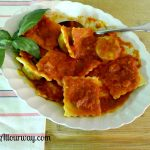 Ravioli with Meat and Cheese Filling Tutorial at allourway.com
