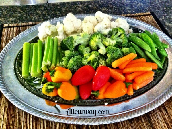 Vegetable Tray for Dining Al Fresco at allourway.com