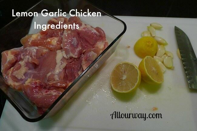Lemon Garlic Chicken Ingredients at Allourway.com