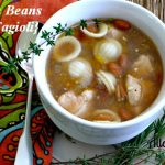 Pasta with Beans {Pasta e Fagioli} with thyme and rosemary. @ Allourway.com