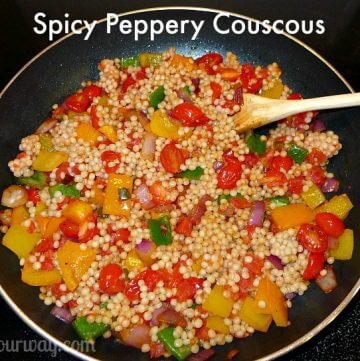 Spicy Peppery Couscous with fresh vegetables @allourway.com