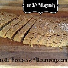 "Gingerbread biscotti slicing the dough diagonally 3/4"" @allourway.com"