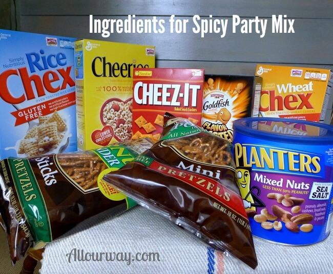 Party Mix Ingredients @allourway.com
