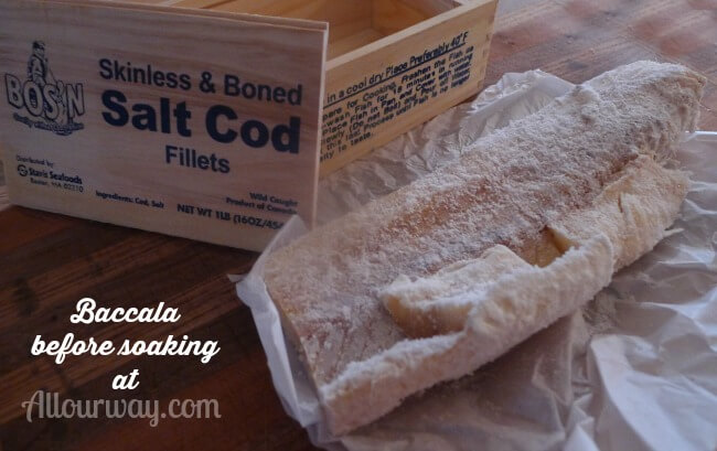 Baccala {Salt Cod} before soaking in water and cooking @allourway.com