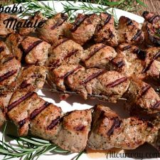 Pork Kebabs - Spiedini di Maiale marinated then grilled @allourway.com