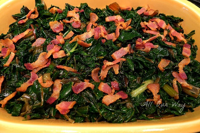 Creamy Swiss Chard with Bacon @allourway.com