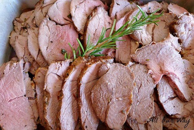 Roasted Herbed Leg of Lamb is an Easter tradition in our Italian household. It's always moist and succulent.