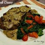 Steak Diane with Spinach and Grape Tomato Saute @allourway.com