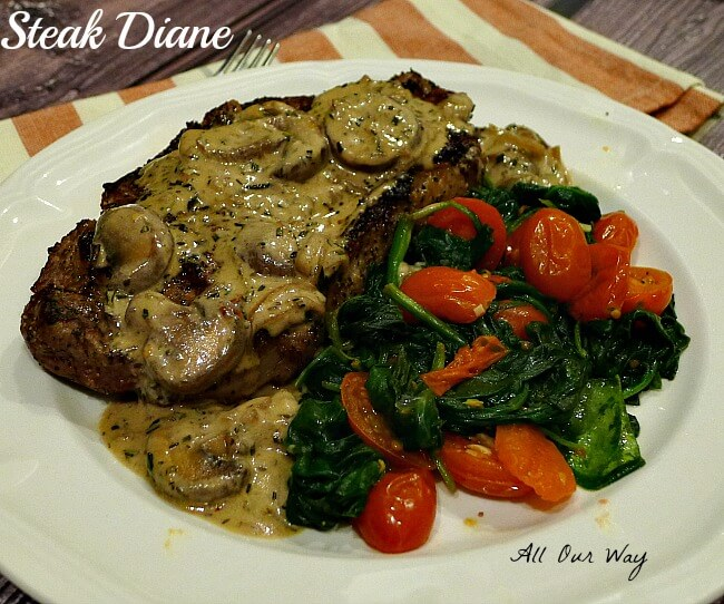 ... weekly meaty main course classic steak diane 12 tomatoes steak diane