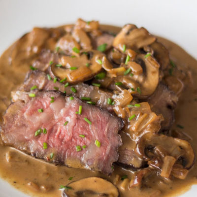 Steak Diane With Mushrooms For Two