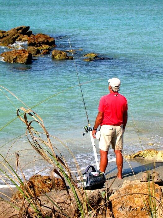Fishing at Caspersen Park in Venice Florida @allourway.com