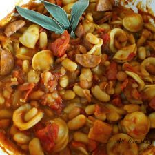 Pasta al Forno - Italian Baked Beans with Pasta @allourway.com