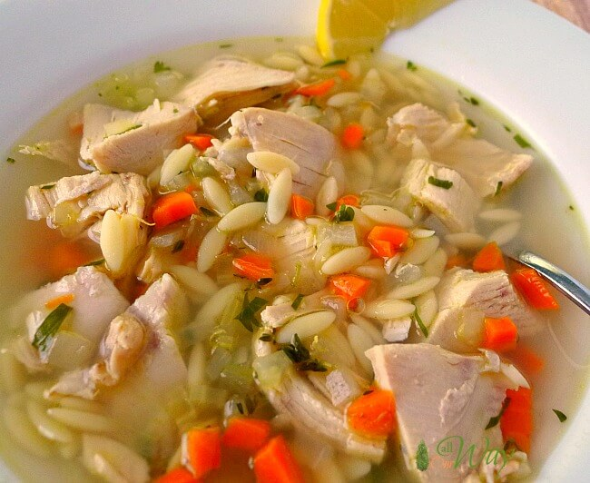Lemon Chicken Orzo Soup - a comfort food @allourway.com