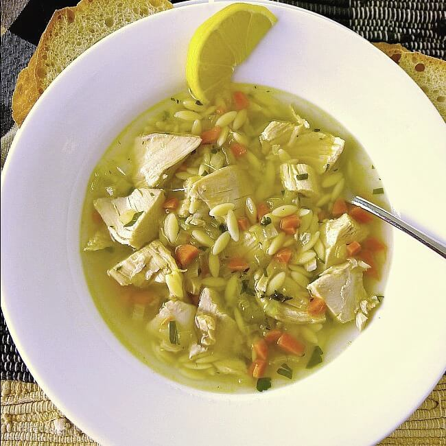 Lemon Chicken Orzo Soup is pure comfort in a bowl. Light and lemony it is perfect any time of year.