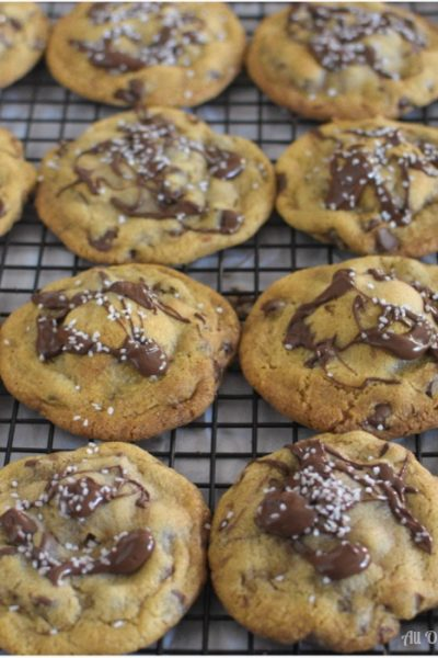 Salty Sweet Nutella Chocolate Chip Cookies has more to make it special, the flavor is enhanced with brown butter.