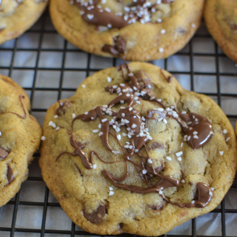 Salty Sweet Nutella Chocolate Chip Cookies