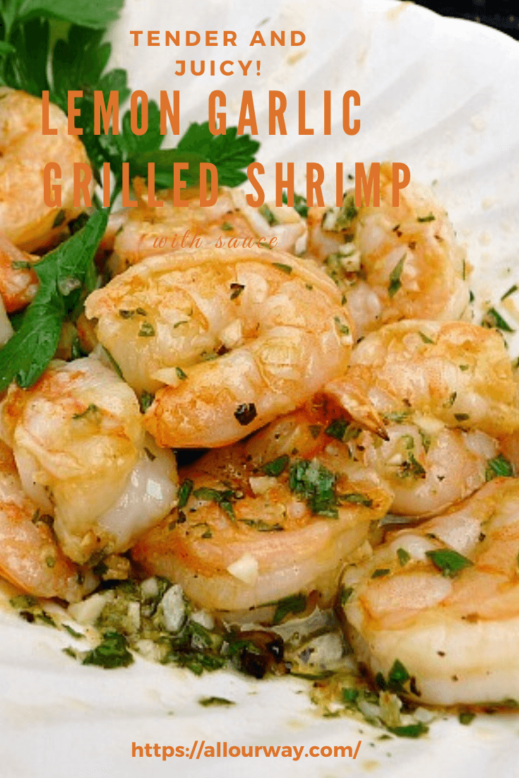 Shrimp is first marinated, threaded and air-dried in the refrigerator ensuring that the shrimp get a head start in browning on the grill. They stay juicy and full of flavor. No more rubbery shrimp!