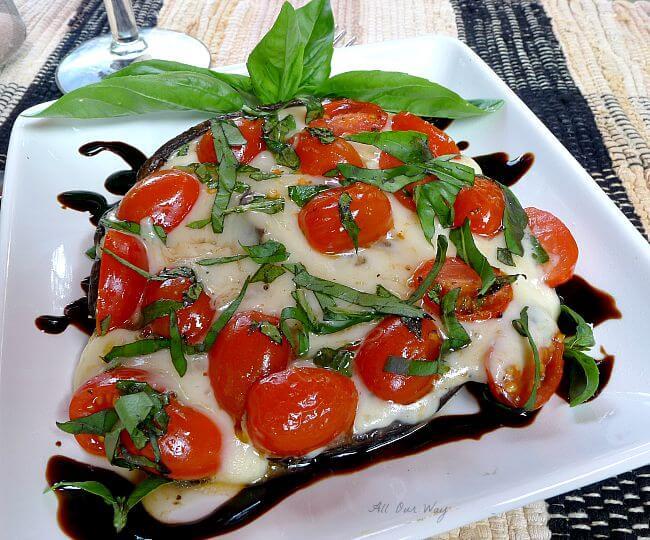Grilled portobello mushroom alla cappers ready to enjoy @allourway.com