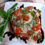 Grilled portabella mushroom alla caprese @allourway;com