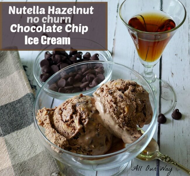 Nutella Hazelnut Chocolate Chip Ice Cream is Laced with Frangelico @allourway.com